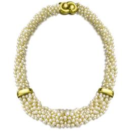 Collier en or et perles, 1964. Estimation : CHF 3,500 - 5,000