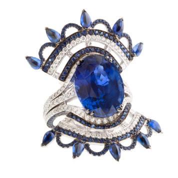JohnRubel---Bague-Bleu-Carmen---or-blanc,-diamants,-saphir-ceylan-12,74-cts-au-centre