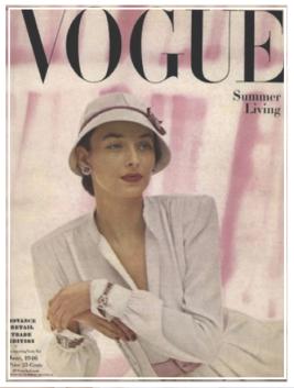 Une autre couverture de Vogue US pour John Rubel en 1946.