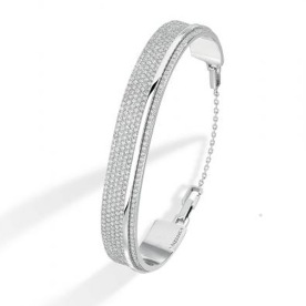 Bracelet Kate Pavé en or blanc et diamants