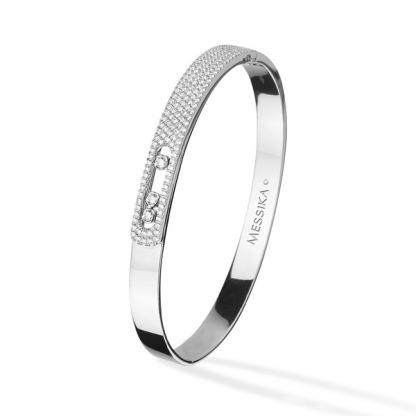Bracelet Noa en or blanc et diamants