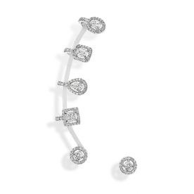 Boucles d'oreilles Amazone Multiformes en or blanc et diamants