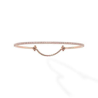 Bracelet Skinny en or rose et diamants
