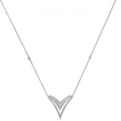 Collier Queen V en or blanc et diamants