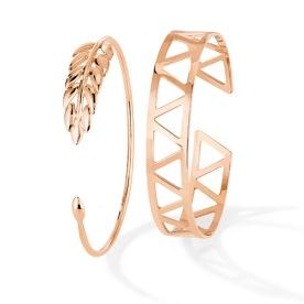 Bracelets Naples & Chicago en or rose