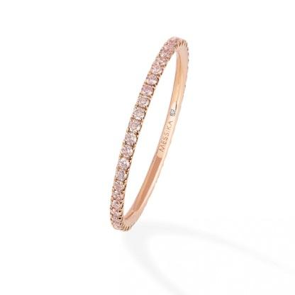 Bague Gatsby en or rose et diamants