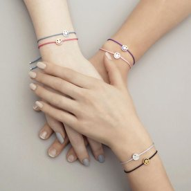 Bracelets collection Visage Friends en ors rose, jaune et blanc