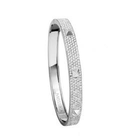 Bracelet Spiky Pavé en or blanc et diamants